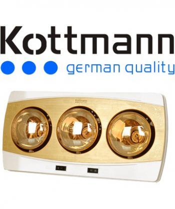 Đèn sưởi nhà tắm 3 bóng vàng Kottmann  K3B-H (Vàng đồng)