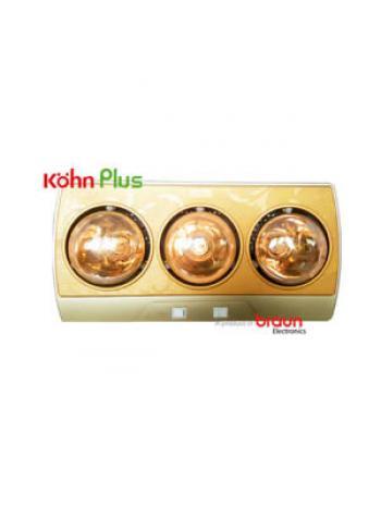 Đèn sưởi nhà tắm Braun Kohn 3 bóng KP03G