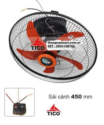 Quạt đảo trần quay 360 độ Tico QDT-B500- điều khiển cơ