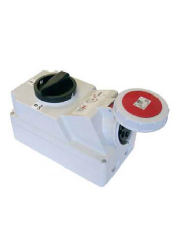 Ổ cắm công nghiệp kèm công tắc loại kín nước PCE F75252-6
