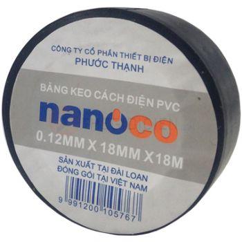 Băng keo cách điện nanoco FKPT20(BK/W/Y/R/G/B)
