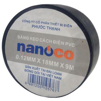 Băng keo cách điện nanoco FKPT10(BK/W/Y/R/G/B)