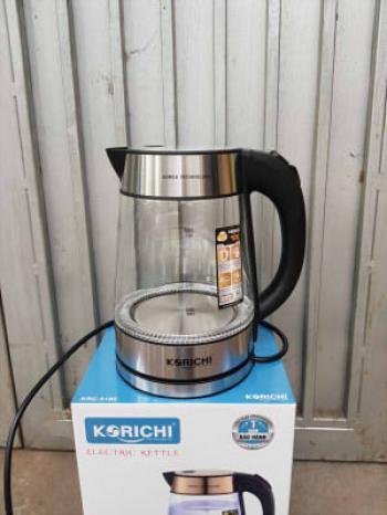 Ấm siêu tốc thủy tinh Korichi KRC-5183 1.8 Lít