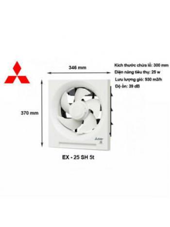 QUẠT THÔNG GIÓ ỐP TƯỜNG MITSUBISHI ELECTRIC EX-25SH5T