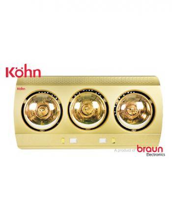 Đèn sưởi phòng tắm 3 bóng Kohn KN03G